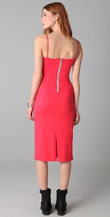 MONROW Bustier Midi Dress