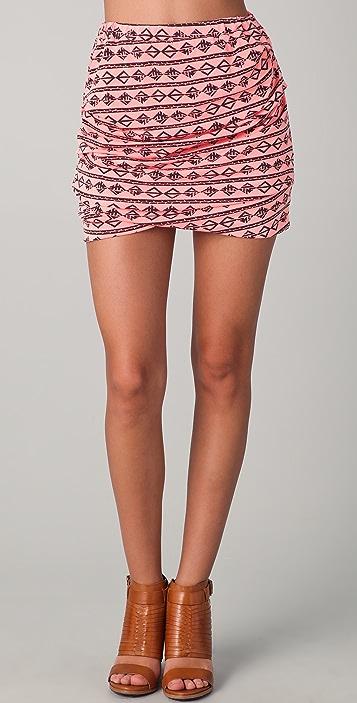 MONROW Tucked Skirt