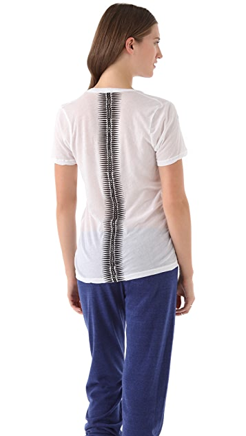 MONROW Spikes V Neck Tee