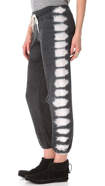 MONROW Fishbone Tie Dye Vintage Sweatpants