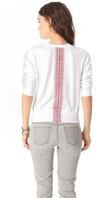 MONROW Spikes Print Crew Sweatshirt