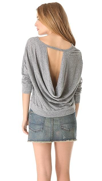 MONROW Drape Back Sweatshirt