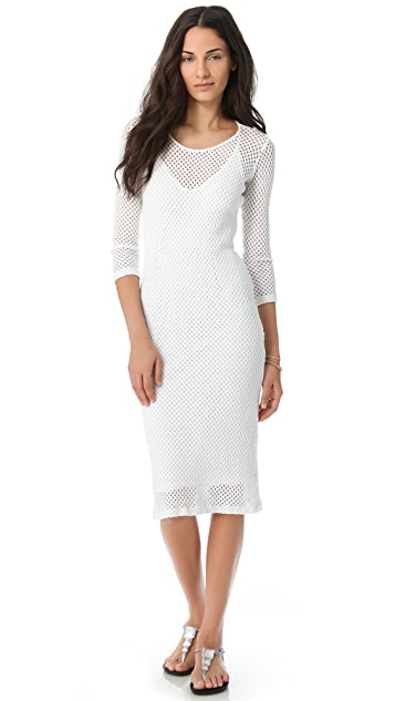 MONROW 3/4 Sleeve Knit Dress