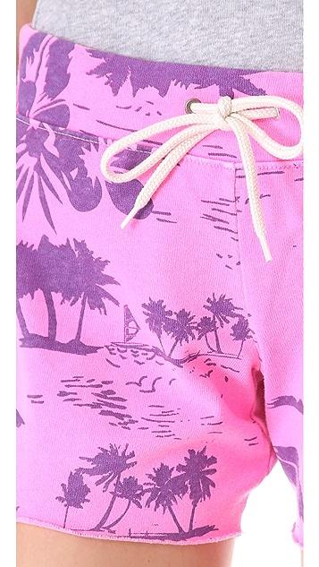 MONROW Hawaiian Print Vintage Shorts