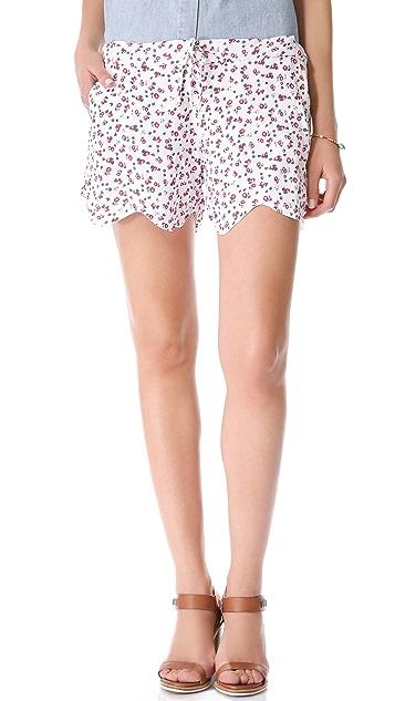 MONROW Ditsy Print Shorts