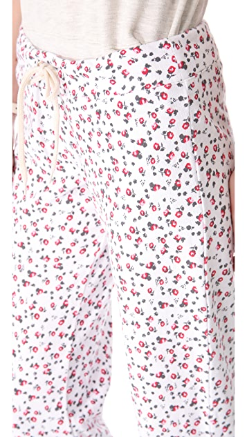 MONROW Ditsy Print Vintage Sweatpants