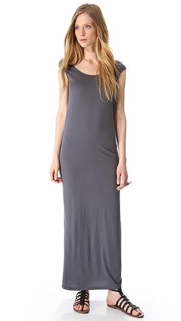 MONROW Novelty Basic Cutout Maxi Dress