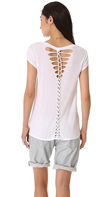 MONROW Novelty Braided Tee