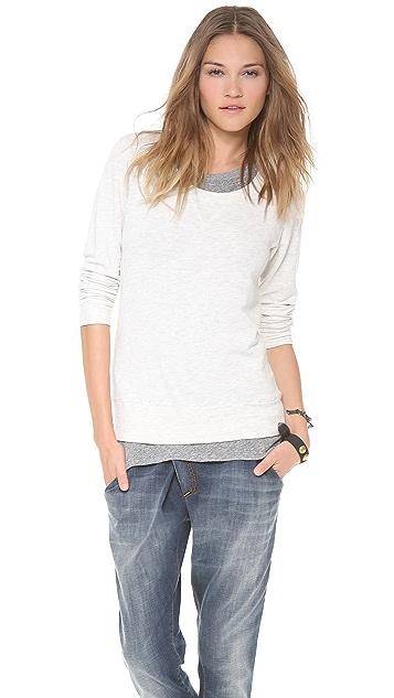 MONROW Soft Layered Fleece Sweatshirt