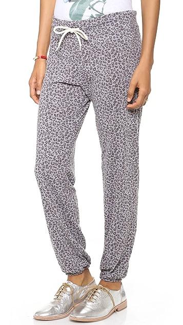 MONROW Mini Leopard Granite Vintage Sweatpants