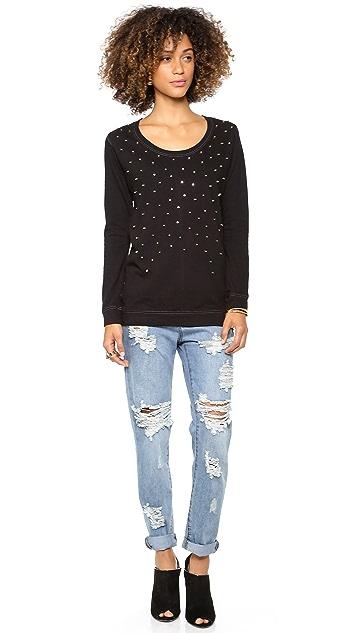 MONROW Studded Sweatshirt