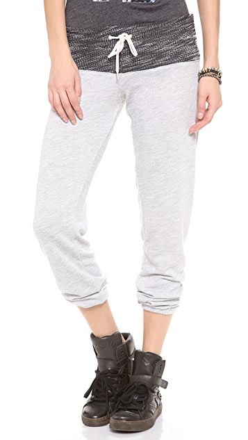 MONROW Luxe Two Tone Sweatpants
