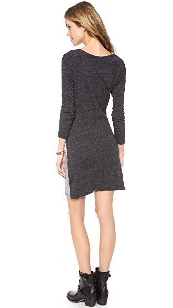 MONROW Half & Half Wrap Dress