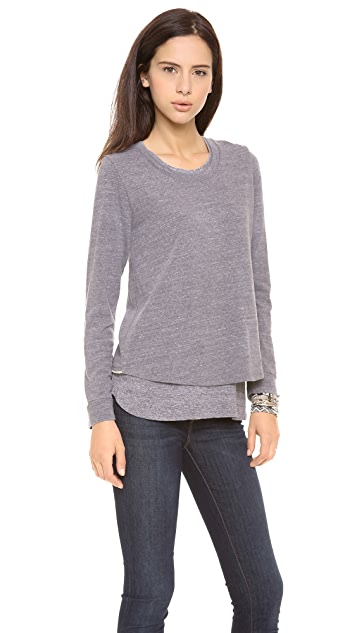 MONROW Zip Back Sweatshirt