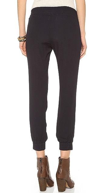 MONROW Crepe Skinny Sweatpants