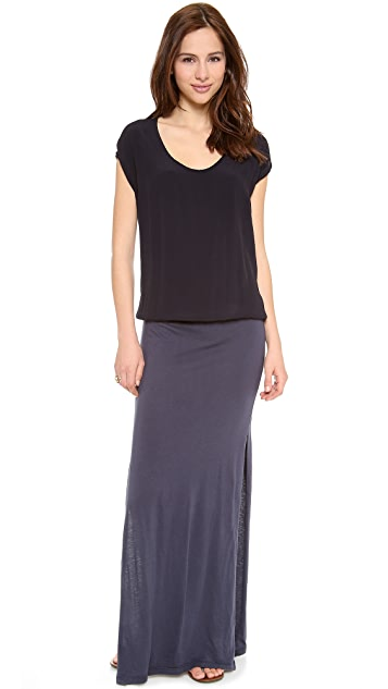 MONROW Crepe Basics Maxi Dress