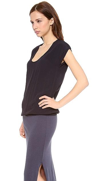 MONROW Crepe Basics Maxi Dress