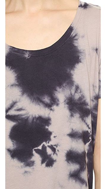 MONROW Sun Faded Tie Dye Oversized Tee