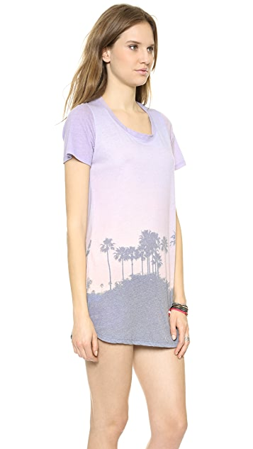 MONROW Cali Print T-Shirt Dress