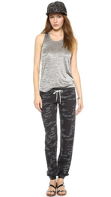 MONROW Camo Print Vintage Sweatpants