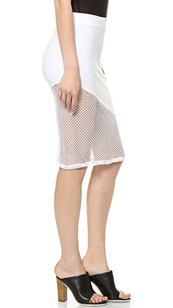 MONROW Fishnet Skirt