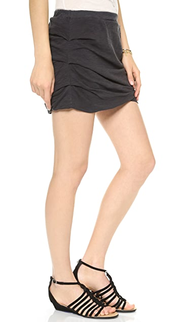 MONROW Basic Shirred Skirt