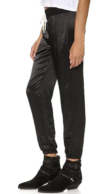 MONROW Satin Rayon Sweatpants