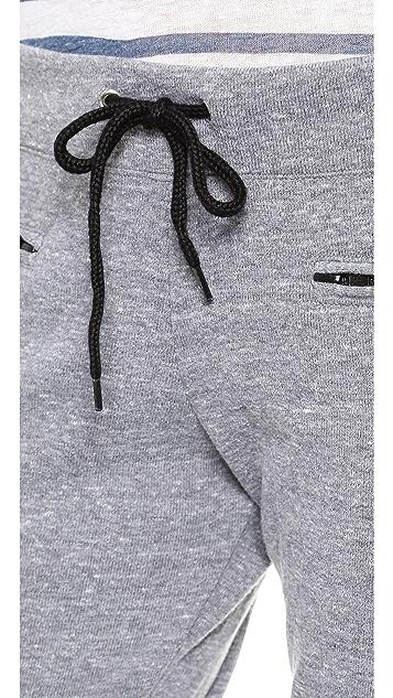 MONROW Zip Drawstring Sweatpants
