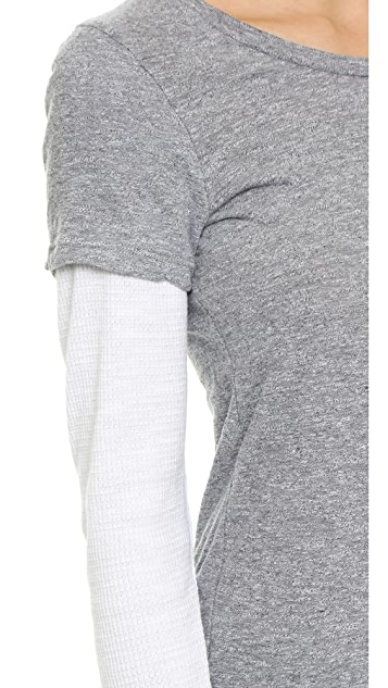 MONROW Varsity Double Layer Thermal Top