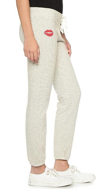MONROW Stripe Kiss Vintage Sweatpants
