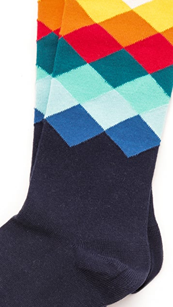 HS Faded Diamond Socks