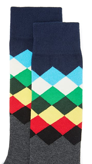 HS Faded Diamond Socks