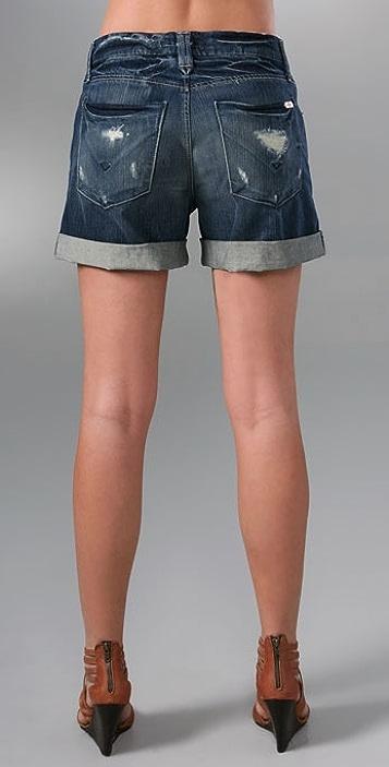 Hudson Leah Boyfriend Cuffed Denim Shorts
