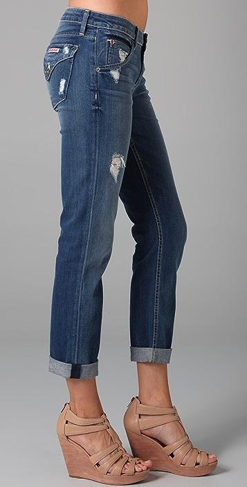 Hudson Bacara Cropped Straight Leg Jeans