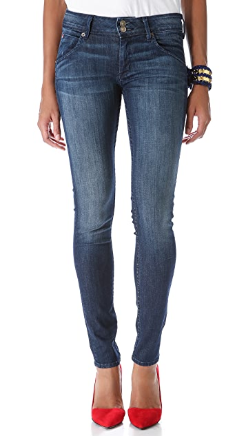 Hudson Collin Mid Rise Super Skinny Jeans
