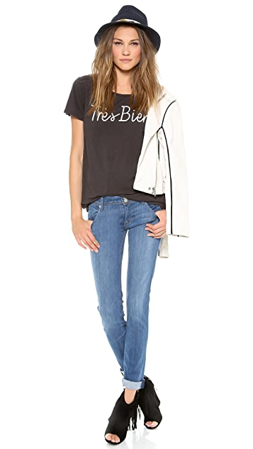 Hudson Collin Mid Rise Skinny Jeans