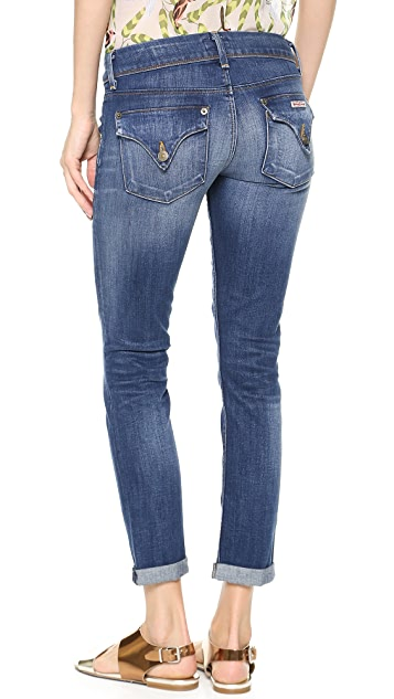 Hudson Kylie Crop Skinny Jeans with Cuffs