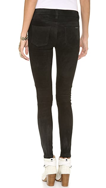 Hudson Stark Leather Moto Pants