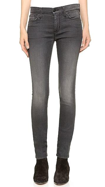 Hudson Shine Midrise Skinny Jeans
