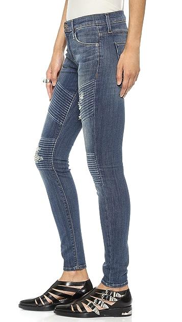 Hudson Brooklyn Moto Super Skinny Jeans