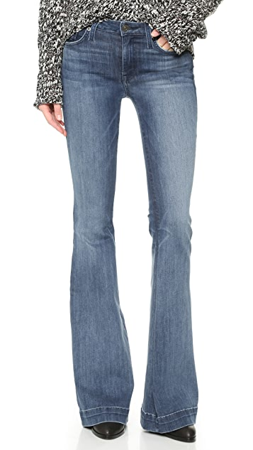 Hudson Ferris Mid Rise Flare Jeans