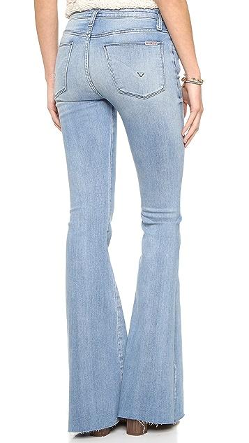 Hudson Tyler Cut Off Flare Jeans