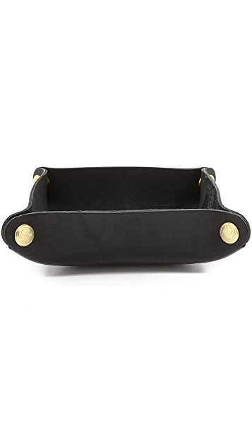 J.W. Hulme Co. Leather Desk Valet Tray