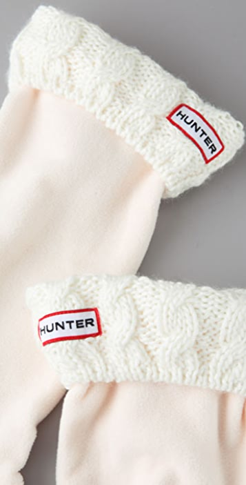 Hunter Boots Cable Cuff Welly Socks