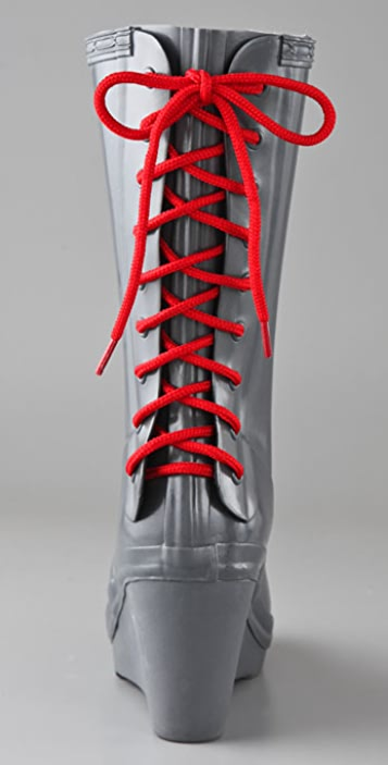 Hunter Boots Verbier Wedge Boots with Lace Up Detail