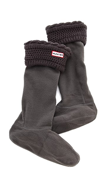 49d99046df48d Hunter Boots Fleece Cable Welly Socks | SHOPBOP