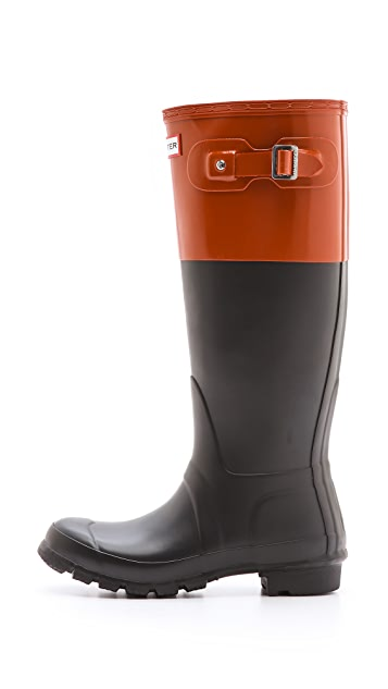 Hunter Boots Original Colorblock Rain Boots