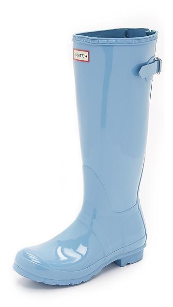 Hunter Boots Original Back Adjustable Gloss Boots