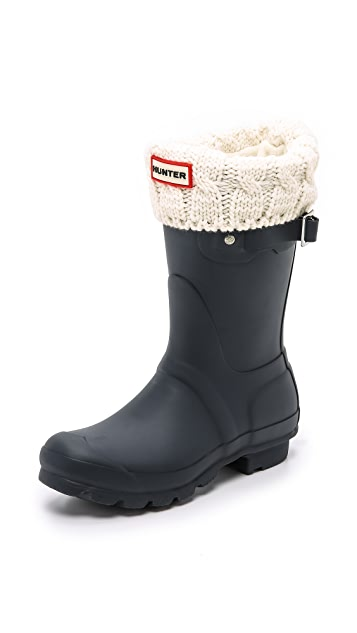 Hunter Boots Cable Short Boot Socks
