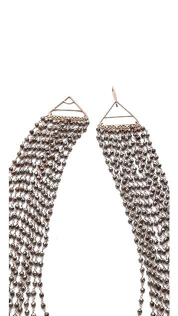 IaM by Ileana Makri Multi Strand Pyrite Necklace